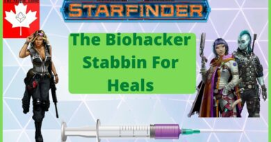 Biohacker Stabbing to Heal Your Friends – Starfinder